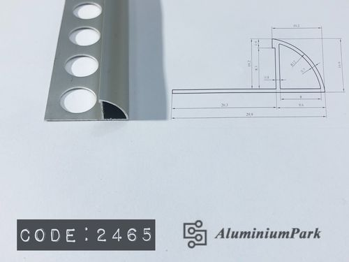 Aluminium Closed Round Trim