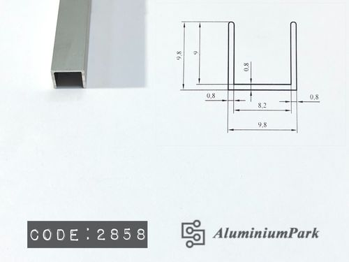 Aluminium U profiles for Glass